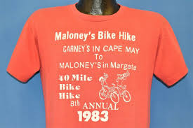 vtg 80s maloney s bike hike 1983 e