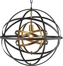 bronze and brass pendant double metal