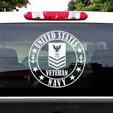 Us Navy Petty Officer First Class Rank E 6 Po1 Veteran Decal Window Sticker Ebay