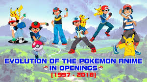 Evolution of the Pokémon Anime in Openings (1997-2018) - YouTube