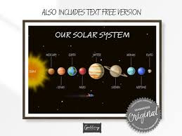 Solar System Prints Planets Poster Space Kids Room Decor Etsy