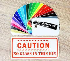 No Glass In This Bin Recycling Bin Sticker Vinyl Decal Etsy