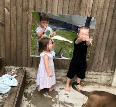 Toddler Pals Living Next Door Can Finally Play Together Again After Crafty Mom Installs Fence Window