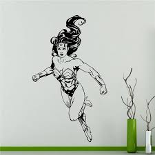 2018 Rushed Stickers Wall Sticker Wonder Woman Wall Decal Superhero Sticker Comics Art Home Decoration Any Room Waterproof T225 Wall Stickers Aliexpress