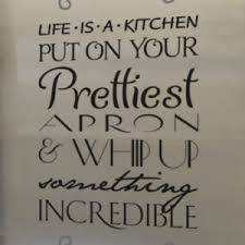 Life Is A Kitchen Put Wall Decal