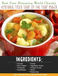 chunky vegetable sd soup in the soup