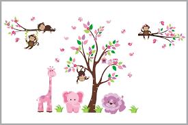 Baby Girls Nursery Decals Jungle Themed Stickers Kids Room Decor Nurserydecals4you