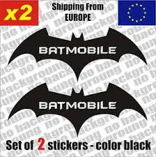 Set Of 2 Batman Batmobile Logo Vinyl Sticker Decal Aufkleber Die Cut Car Ebay