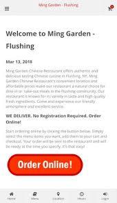 ming garden flushing ordering