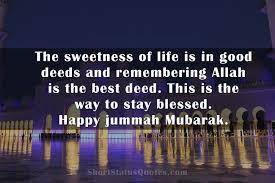 best jumma mubarak status captions quotes wishes