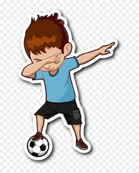 Funny Dabbing Dance Soccer Sticker Car Bumper Decal Dabbing Soccer Boy Free Transparent Png Clipart Images Download