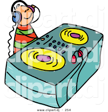 vector clipart of a cartoon dj kid