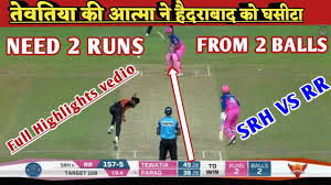 Highlights : SRH VS RR ! 26th match, 11 ...