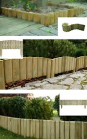 Large Small Outdoor Lawn Wooden Log Edging Garden Border Fence Roll Treated Ebay