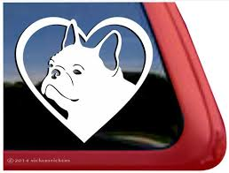 French Bulldog Love Decals Stickers Nickerstickers