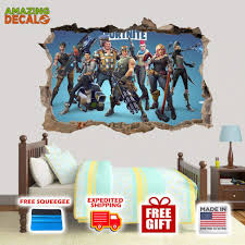 Amazing Decalz Fortnite Graphic Broken Wall 3d Sticker Decal Removable Dododata