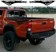 Toyota Tacoma Trd Pro 2016 2020 Side Bed Vinyl Decals Graphics Rally Stickers Ebay