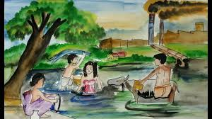 easy water pollution drawing