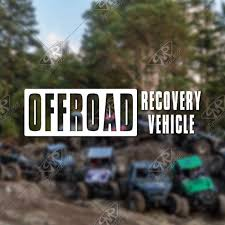 Offroad Recovery Vehicle Vinyl Decal Bumper Sticker Etsy