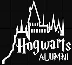 Amazon Com Harry Potter Hogwarts Alumni Vinyl Stickers Symbol 5 5 Decorative Die Cut Decal For Cars Tablets Laptops Skateboard White Computers Accessories