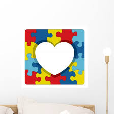 Autism Awareness Puzzle Heart Illustration Wall Decal Wallmonkeys Com