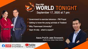 Live] Thai PBS World Tonight 17th September 2020 - YouTube