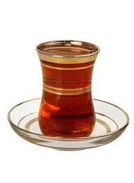 turkish tea glass saucer 3 lines