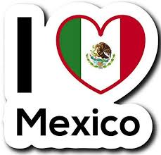 Amazon Com Love Mexico Flag Decal Sticker Home Pride Travel Car Truck Van Bumper Window Laptop Cup Wall One 5 Inch Decal Mks0210 Automotive