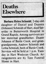 Dan Schmidt daughter obituary - Newspapers.com