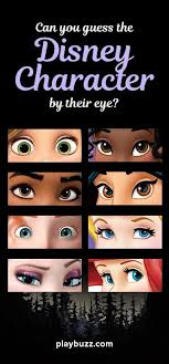 can you guess the disney character by their eye disney princess