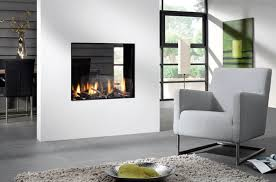 double sided vent free gas fireplace