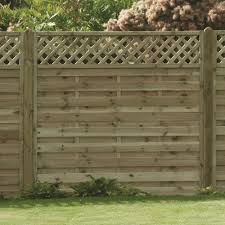 Horizontal Boarded Lattice Fence Panel Pressure Treated Free Delivery Available