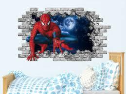 Spiderman Wall Decal Superhero Marvel Comics Vinyl Sticker Boys Bedroom Ps204 Ebay