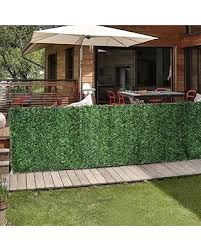 Find Big Savings On Porpora Artificial Hedge Slats Panels For Chain Link Fence Outdoor Faux Hedge Privacy Screen Fence Covers 10 Lineal Feet Of Fence 6 5x10by