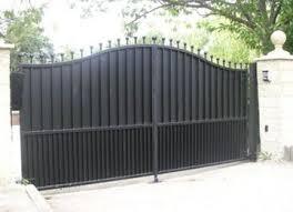 Black Metal Fence Gate Privacy Google Search Puertas De Garage Fachadas Puertas