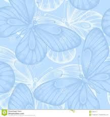 Fondo Inconsutil Hermoso Con Las Mariposas Azules Ilustracion Del