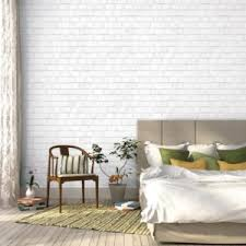 wall decor ideas with brick wallpaper