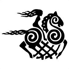 12 7cm 9 8cm Cartoon Viking Goddess Horse Vinyl Decal Black Silver Car Sticker Fashion Car Styling S6 2876 Vinyl Decal Car Stickerhorse Car Decals Aliexpress