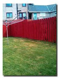 Fence Painted Fence Paint Fence Backyard