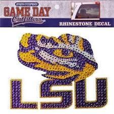 Lsu Tigers Rhinestone Bling Window Decal Sticker University Car Truck Auto 731247348654 Ebay