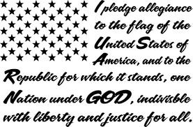 Large I Pledge Allegiance To The Flag America Decal Sticker Vinyl Window Truck For Sale Online Ebay