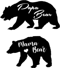 Amazon Com Creativesignsndesigns Mama Bear Papa Bear Car Decals White Home Kitchen