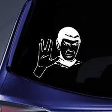 Amazon Com Bargain Max Decals Spock Sticker Decal Notebook Car Laptop 6 White Automotive
