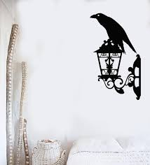 Vinyl Wall Decal Crow Black Raven Bird Lantern Street Style Stickers M Wallstickers4you