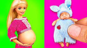10 cute diy miniature barbie baby doll