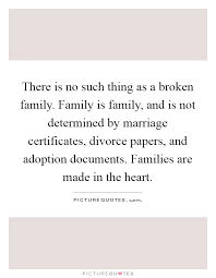 there is no such thing as a broken family family is family and
