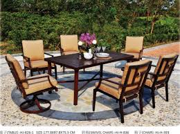 china cast aluminum garden dining table