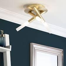 flush ceiling light satin brass
