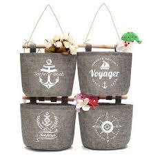 wall mounted storage basket hanging bag