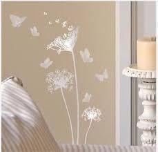 Silver Main Street Wall Creations Dandelions Butterflies Wall Stickers Decals Butterfly Wall Decals Wall Creations Kids Room Wall Decor